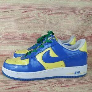 Nike Air Force One Premium Brazil 10.5 Rare Soccer
